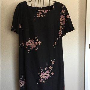 Jones New York Short Sleeve Midi Dress 14W Black